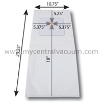 Bags for Large Cyclovac Central Vacuums. Paper. 3-Pack.