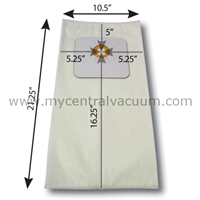 Bags for Small Cyclovac Central Vacuums. 3-Layer HEPA 11. 2-Pack.