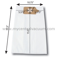 Bags for Numatic Central Vacuums. 3-Layer HEPA 11. 2-Pack.