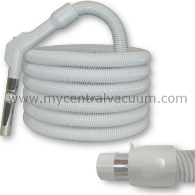 Pistol Grip Type Handle Central Vacuum System Replacement Hose with System On-Off Switch